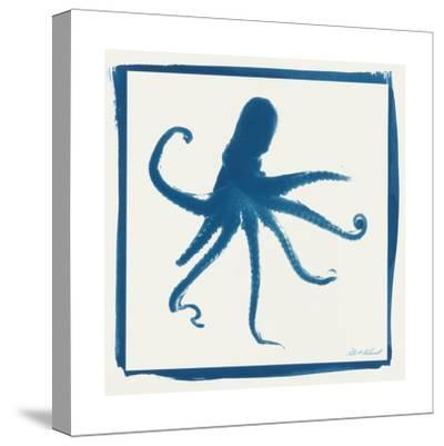 Cyan Octopus-Christine Caldwell-Stretched Canvas Print