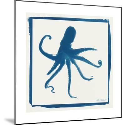 Cyan Octopus-Christine Caldwell-Mounted Premium Giclee Print