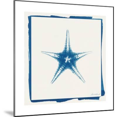 Cyan Starfish-Christine Caldwell-Mounted Premium Giclee Print