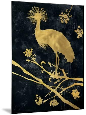 Midnight Crowned Crane-Filippo Ioco-Mounted Premium Giclee Print