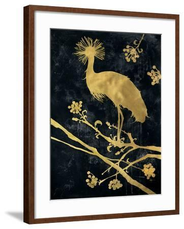 Midnight Crowned Crane-Filippo Ioco-Framed Premium Giclee Print