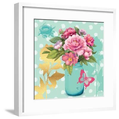 Mint Mason Jar Bouquet--Framed Premium Giclee Print