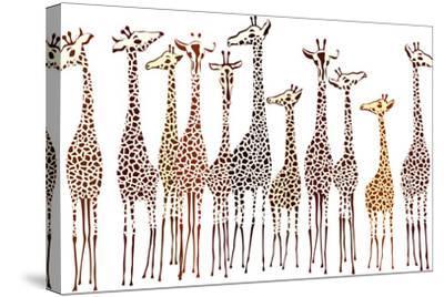 Giraffes-Milovelen-Stretched Canvas Print