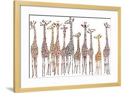 Giraffes-Milovelen-Framed Art Print