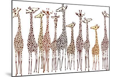 Giraffes-Milovelen-Mounted Art Print