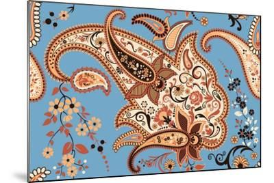 Paisley Seamless Pattern-Milovelen-Mounted Art Print