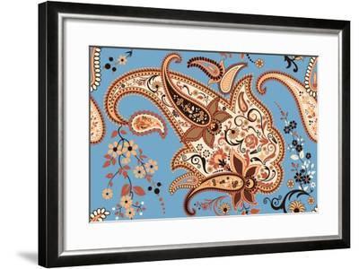 Paisley Seamless Pattern-Milovelen-Framed Art Print
