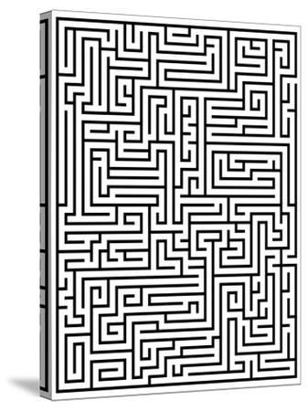 Maze Labyrinth-oriontrail2-Stretched Canvas Print