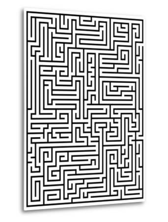Maze Labyrinth-oriontrail2-Metal Print