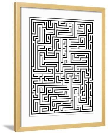 Maze Labyrinth-oriontrail2-Framed Art Print