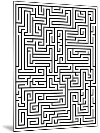 Maze Labyrinth-oriontrail2-Mounted Art Print