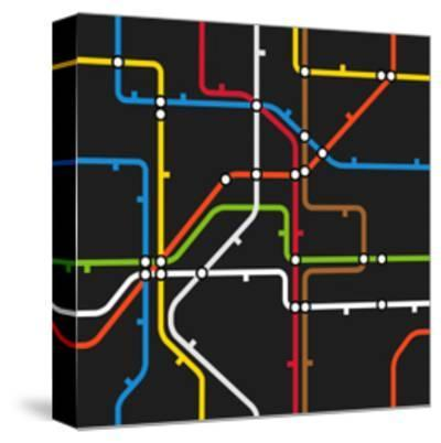 Seamless Background of Abstract Metro Scheme-tovovan-Stretched Canvas Print