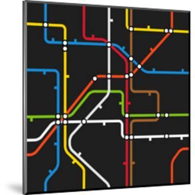 Seamless Background of Abstract Metro Scheme-tovovan-Mounted Art Print