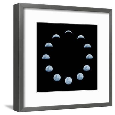 Moon and it's Phases-oriontrail2-Framed Art Print