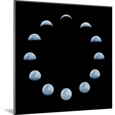 Moon and it's Phases-oriontrail2-Mounted Art Print