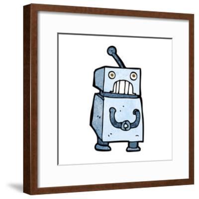 Cartoon Robot-lineartestpilot-Framed Art Print