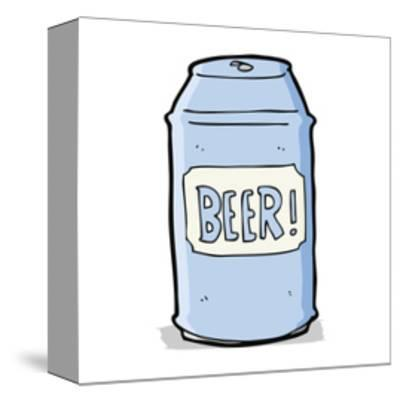 Cartoon Beer Can-lineartestpilot-Stretched Canvas Print