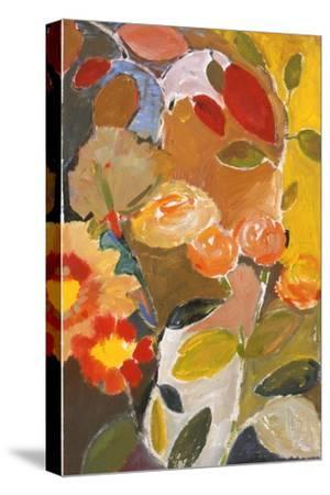 Orange Roses-Kim Parker-Stretched Canvas Print