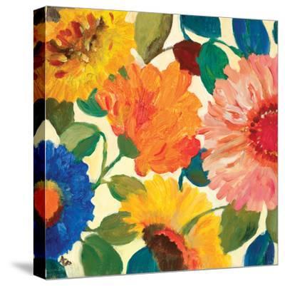 Passion Flowers 1-Kim Parker-Stretched Canvas Print