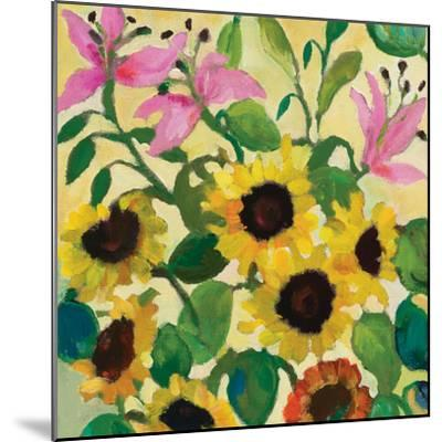 Sunflowers and Pink Lilies-Kim Parker-Mounted Giclee Print