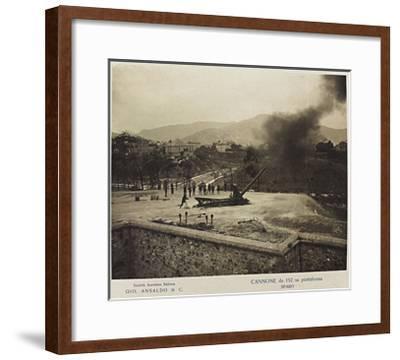World War I: Cannon 152 Platform- Ansaldo-Framed Giclee Print
