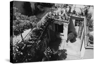 Hotel Terrace in Ravenna-Otto Zenker-Stretched Canvas Print