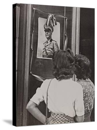 The Head of Government Pietro Badoglio in a Photographic Portrait-Luigi Leoni-Stretched Canvas Print
