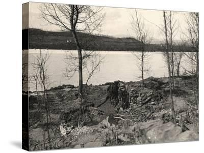 Peteano at the Isonzo River During World War I-Ugo Ojetti-Stretched Canvas Print