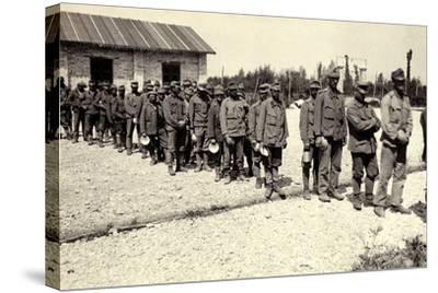 Austrian Prisoners in Bagnaria Arsa During World War I-Ugo Ojetti-Stretched Canvas Print
