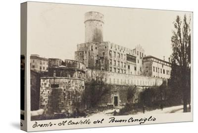 Buonconsiglio Castle in Trento During the First World War-Vincenzo Aragozzini-Stretched Canvas Print
