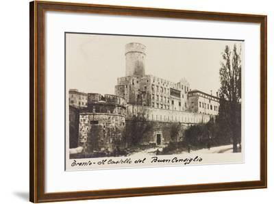 Buonconsiglio Castle in Trento During the First World War-Vincenzo Aragozzini-Framed Giclee Print