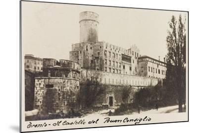 Buonconsiglio Castle in Trento During the First World War-Vincenzo Aragozzini-Mounted Giclee Print