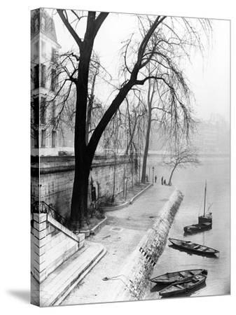 Along the Seine in Paris-Dusan Stanimirovitch-Stretched Canvas Print