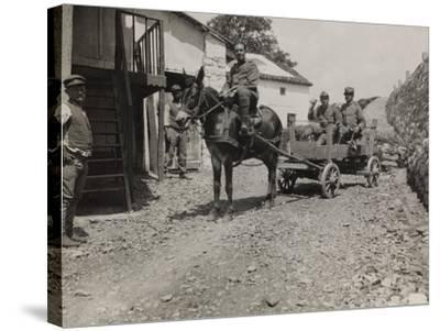 Ambulance 73 Officers During the First World War-Luigi Verdi-Stretched Canvas Print