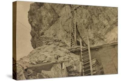 World War I: Ladders Centre 's Averau--Stretched Canvas Print