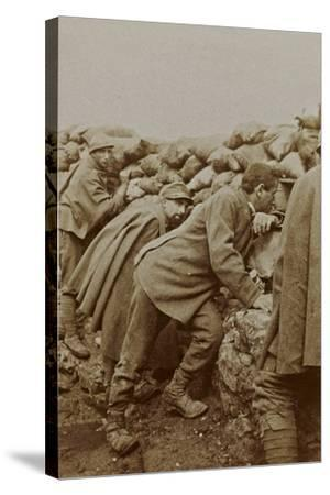 Campagna Di Guerra 1915-1916-1917-1918: Trenches in Santo Stefano--Stretched Canvas Print