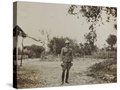 Campagna Di Guerra 1915-1916-1917-1918: Portrait of Jack Bosio in Santo Stefano--Stretched Canvas Print