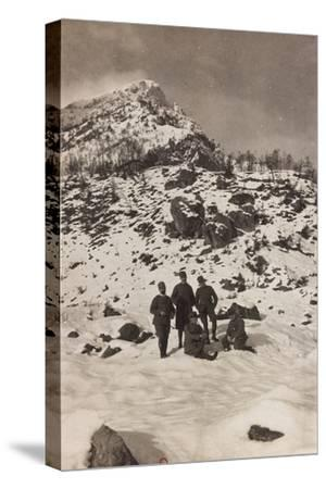 Free State of Verhovac-July 1916: Italian Soldiers in the War Zone During the Winter--Stretched Canvas Print