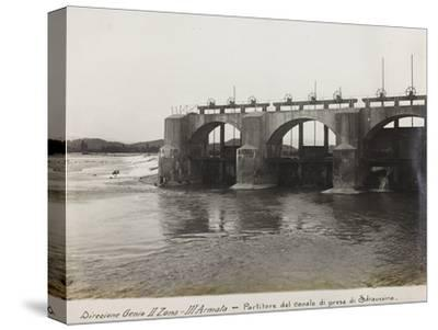 Leadership Corps of Engineers 2nd Area 3rd Army, Divider Channel Outlet Straussina Near Sagrado--Stretched Canvas Print