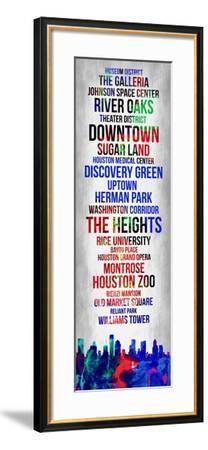 Streets of Houston 1-Lina Lu-Framed Art Print