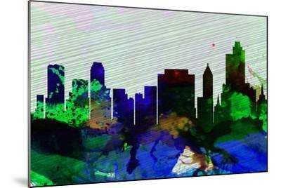 Tulsa City Skyline-NaxArt-Mounted Art Print