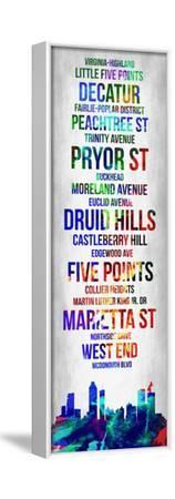 Streets of Atlanta 1-Lina Lu-Framed Stretched Canvas Print