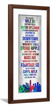 Streets of Indianapolis 1-Lina Lu-Framed Art Print