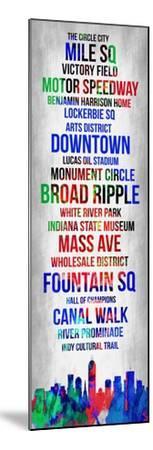 Streets of Indianapolis 1-Lina Lu-Mounted Art Print