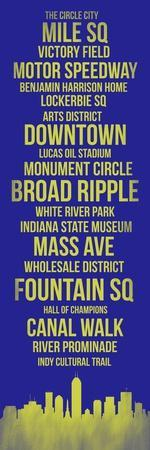 Streets of Indianapolis 3-Lina Lu-Framed Art Print