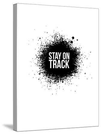 Stay on Track White-NaxArt-Stretched Canvas Print