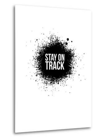 Stay on Track White-NaxArt-Metal Print