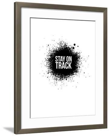 Stay on Track White-NaxArt-Framed Art Print