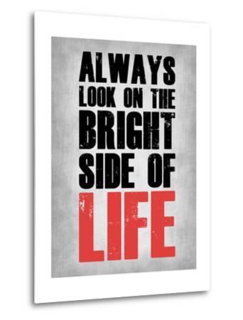 Bright Side of Life  Grey-NaxArt-Metal Print