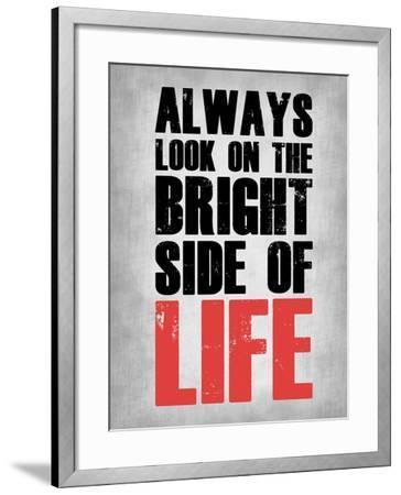 Bright Side of Life  Grey-NaxArt-Framed Art Print